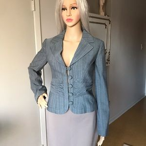 Mossimo Blazer Grey Striped XS
